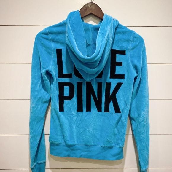 PINK Victoria's Secret Jackets & Blazers - Victoria's Secret PINK Blue Hoodie